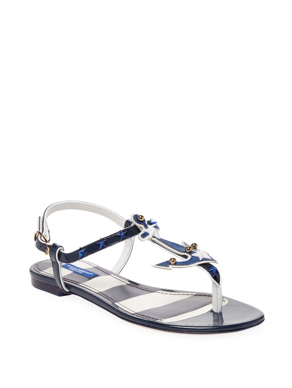 631fc9a5e4f DOLCE   GABBANA NAUTICAL GLADIATOR SANDALS.  dolcegabbana  shoes ...