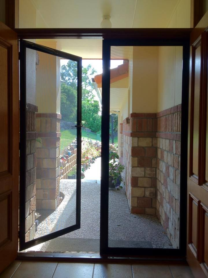 These Prowler Proof Forcefield French Doors Were Installed On The Gold Coast By Burleigh French Doors Security Security Screen Door French Doors With Screens