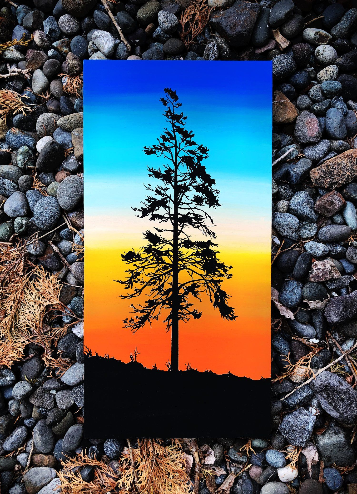 Shop Woodensense Nature Canvas Painting Sunset Canvas Painting Nature Paintings Acrylic
