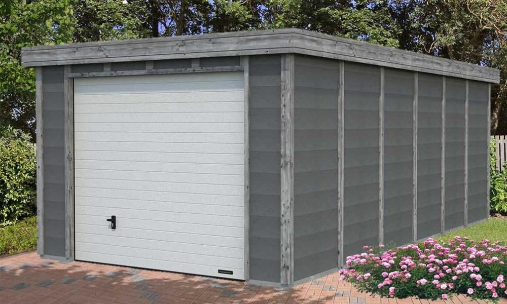 Garage Toit Plat Beton Structure Bois B Ton Elya 19 66m Int Rieur Garage Toit Plat Toit Plat Garage Beton