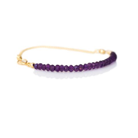 amethyst and gold bracelet  jewelry
