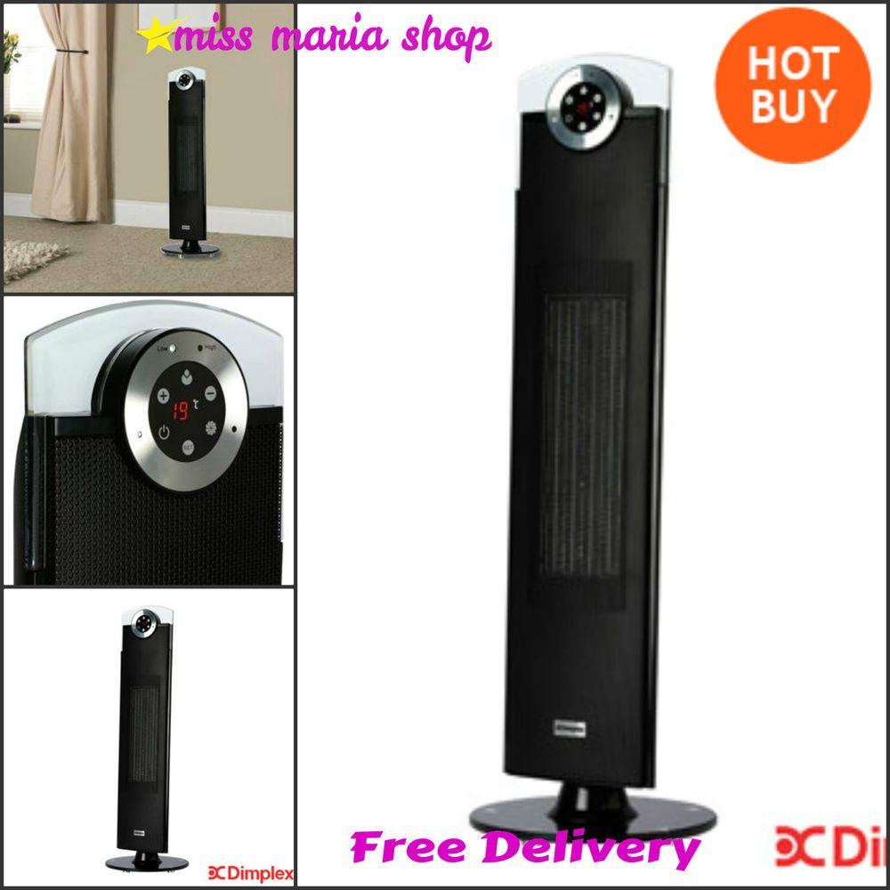 Fan Heater Tower Remote Portable Oscillating Ceramic Digital Timer Black Dimplex Digital Timer Ceramic Heater Dimplex