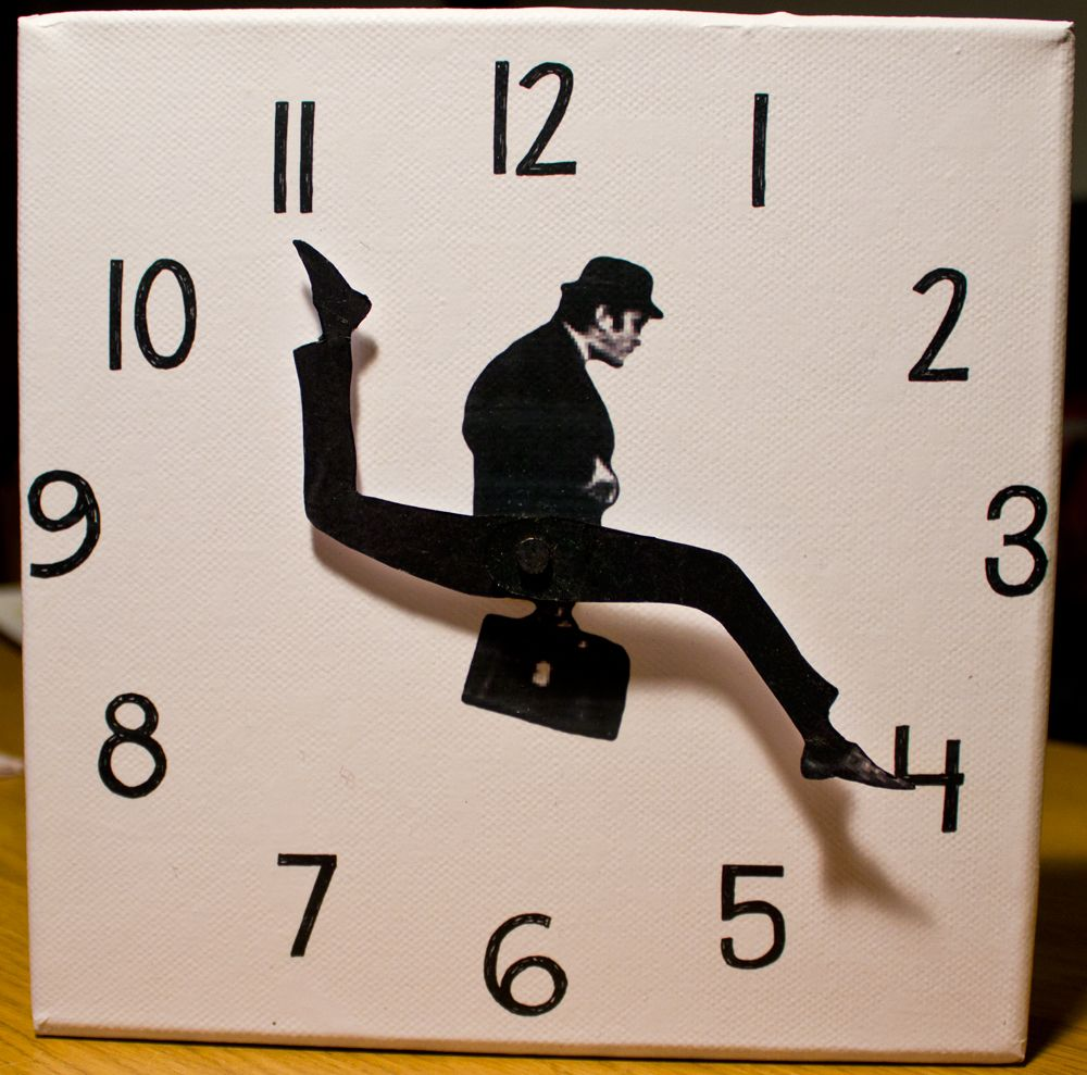 Diy Silly Walk Clock Tutorial How To Make A Monty Python