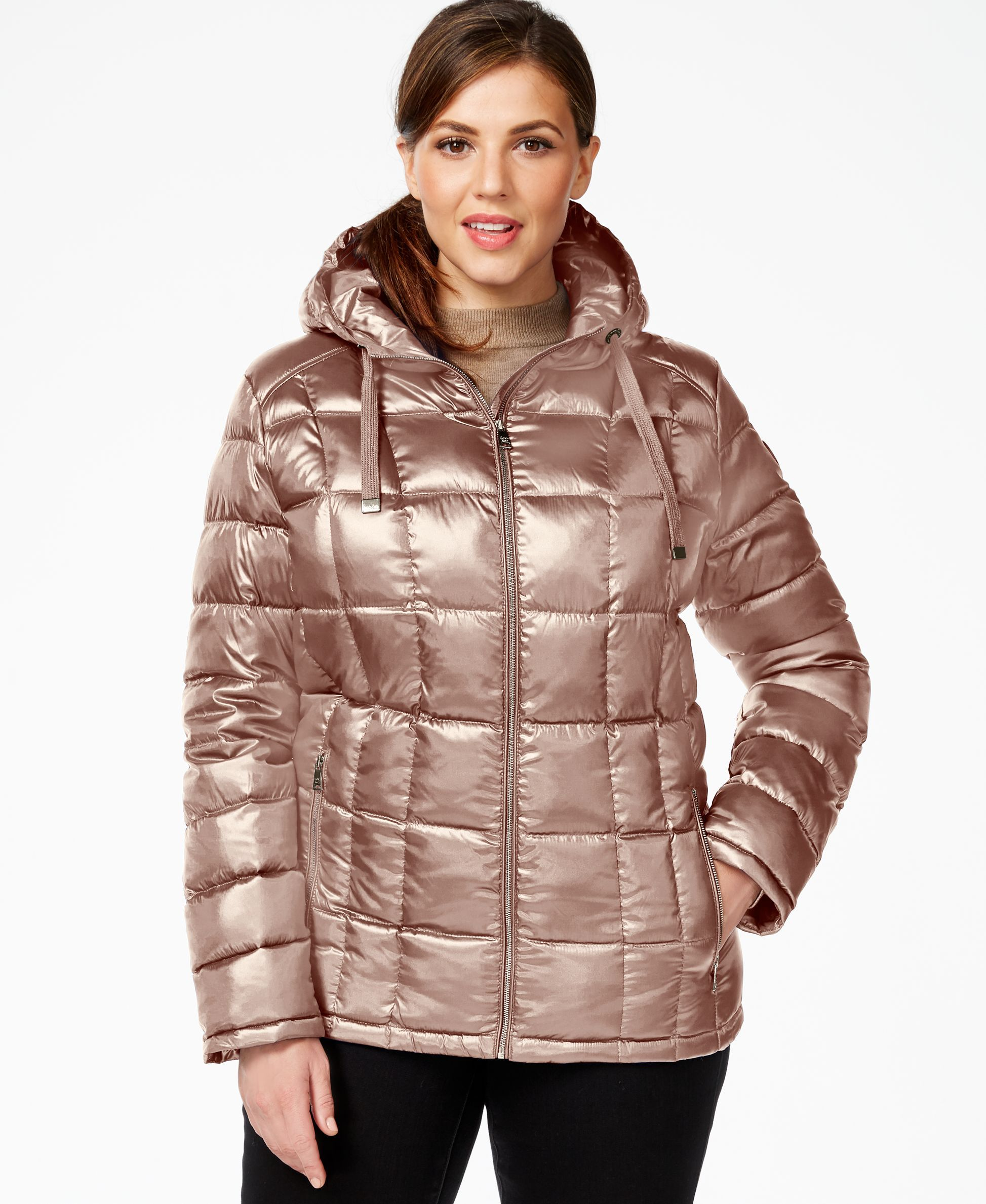 0dfa31b6bb9 Calvin Klein Plus Size Packable Hooded Puffer Jacket