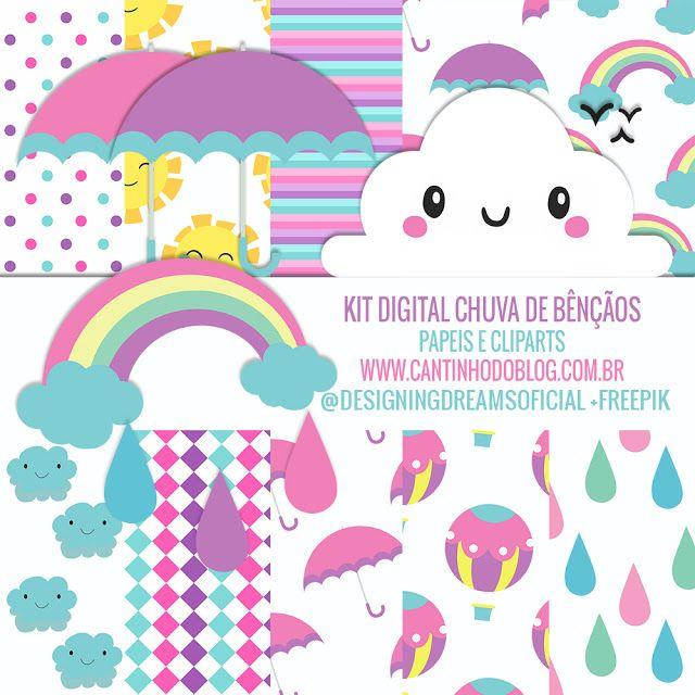 Kit Digital Chuva De Bencaos Gratis Para Baixar Festa Chuva De