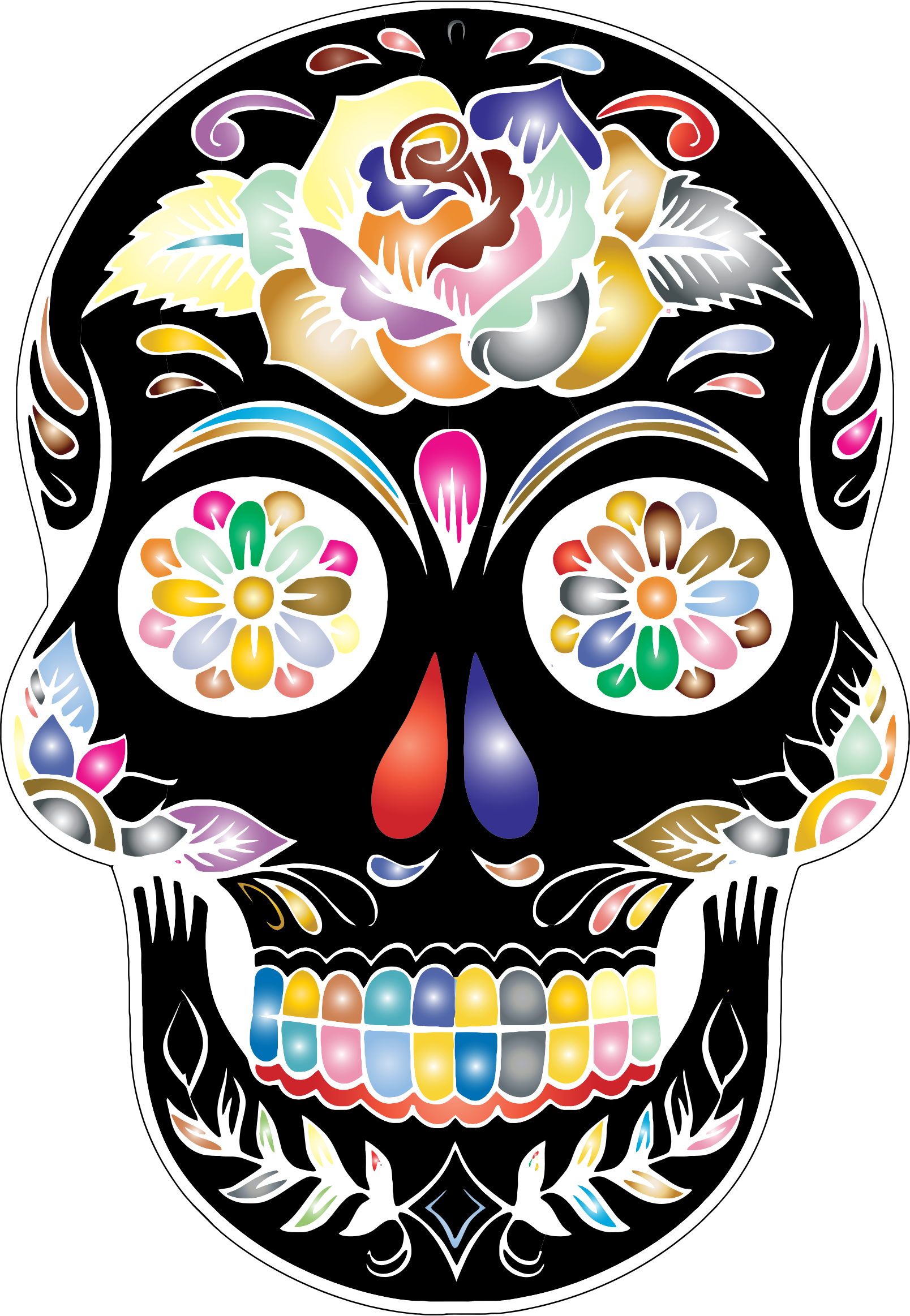 Download And Share Clipart About Sugar Skull Silhouette By Karen Arnold Skull Silhouette Find More High Quality Fre Candy Skulls Sugar Skull Diy Sugar Skull
