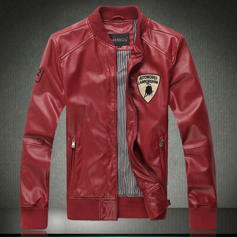 Pin By Pattronz Fashion On Red Leather Jacket For Men Leather
