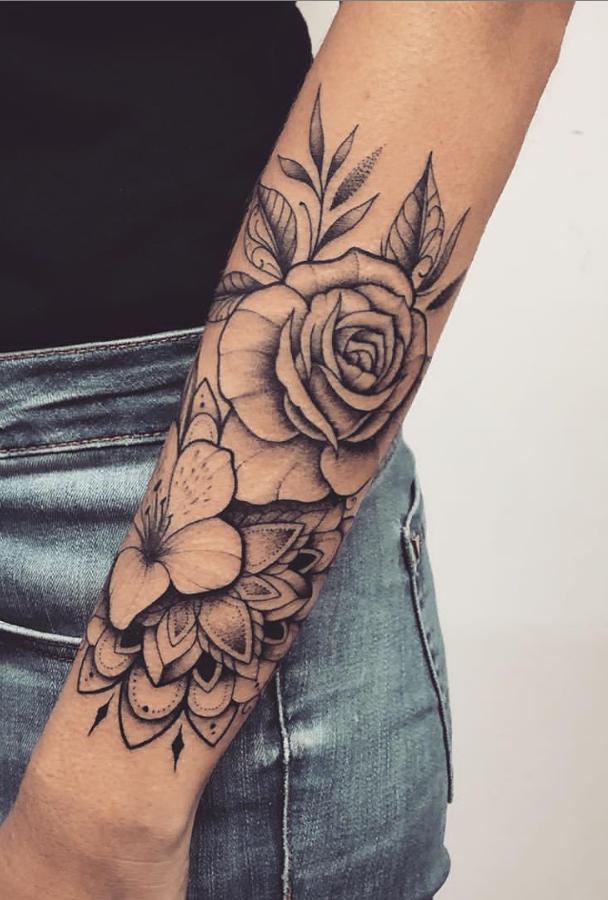 55 Beautiful Rose Tattoo Ideas Forearm Tattoo Women Tattoos Forearm Tattoos