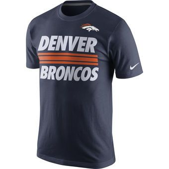 Men's Denver Broncos Nike Navy Team Stripe T Shirt | My Style