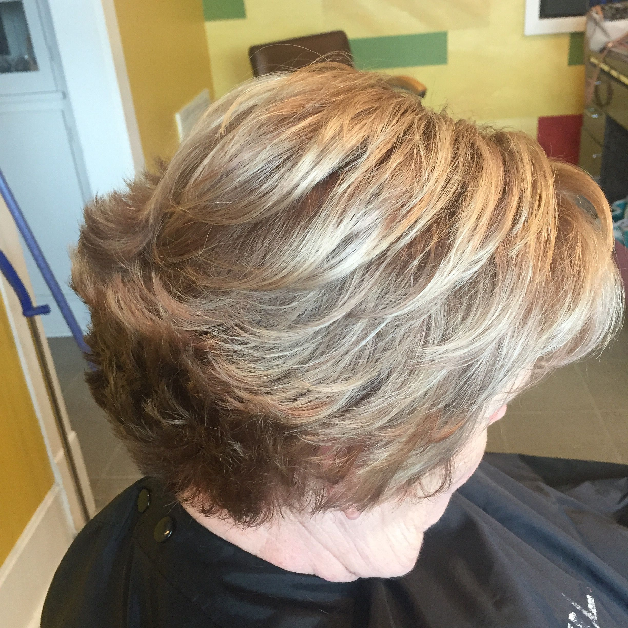 Blonde Haircolor With Short Stacked Haircut By Lauren Woodham