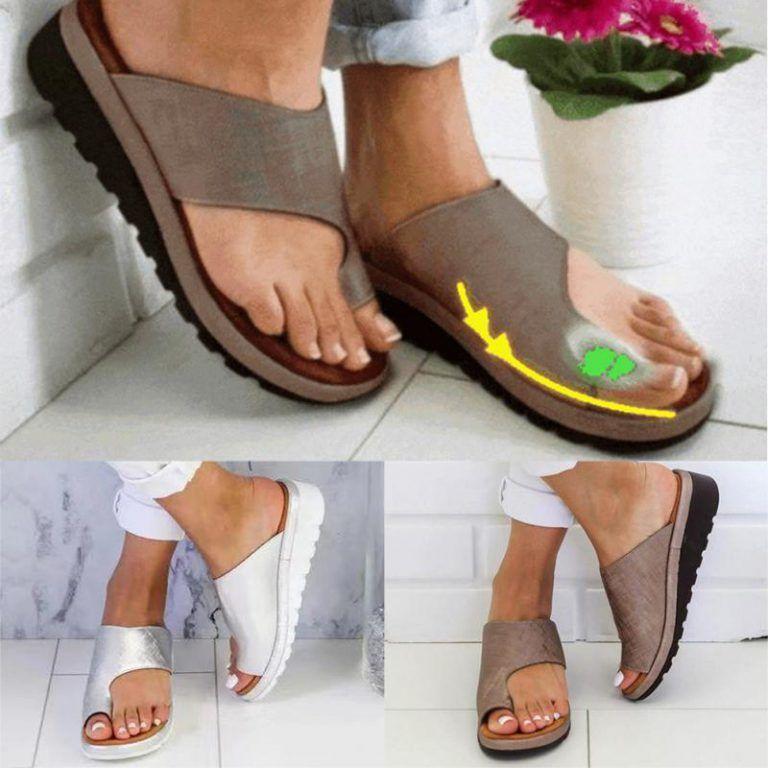 Women Comfy Platform Sandal Shoes - Not