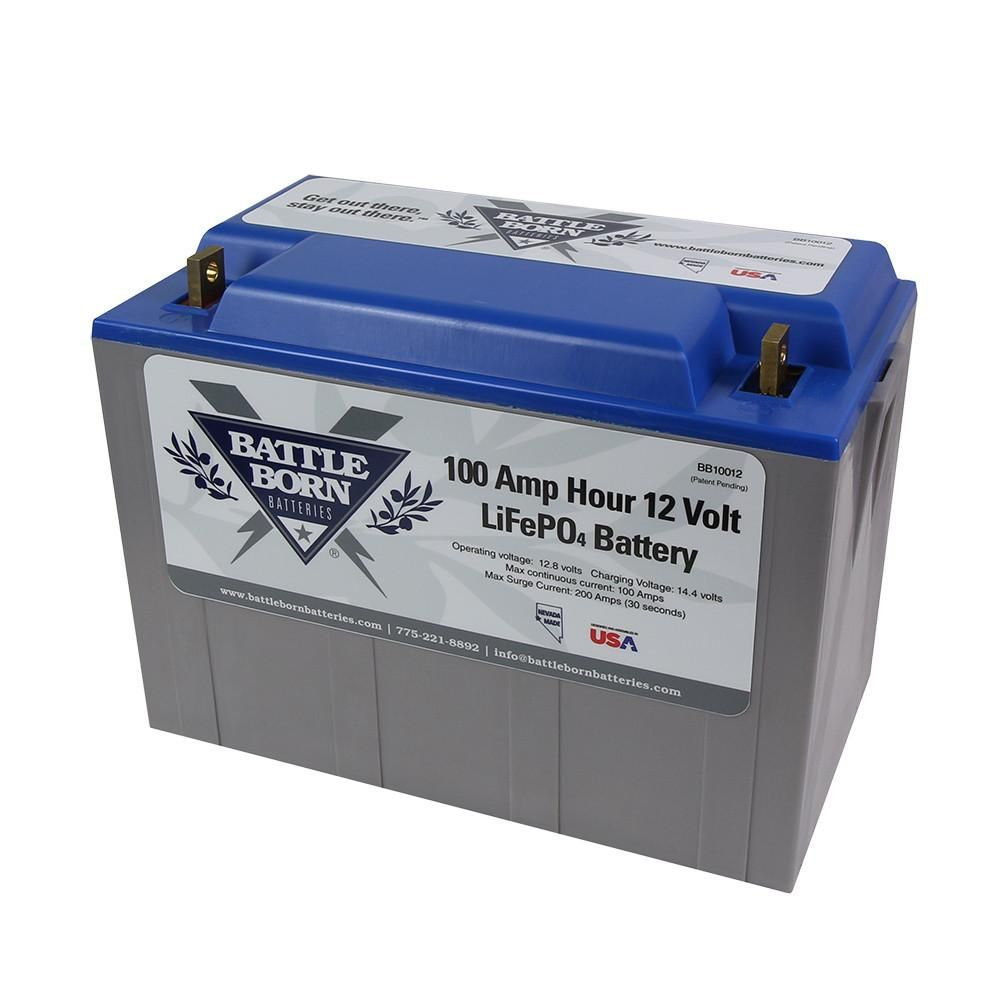 The Best Lithium Phosphate Batteries For Your Rv Made By Battle Born Free Shipping In The Continental Us Deep Cycle Battery Lithium Ion Batteries Battery