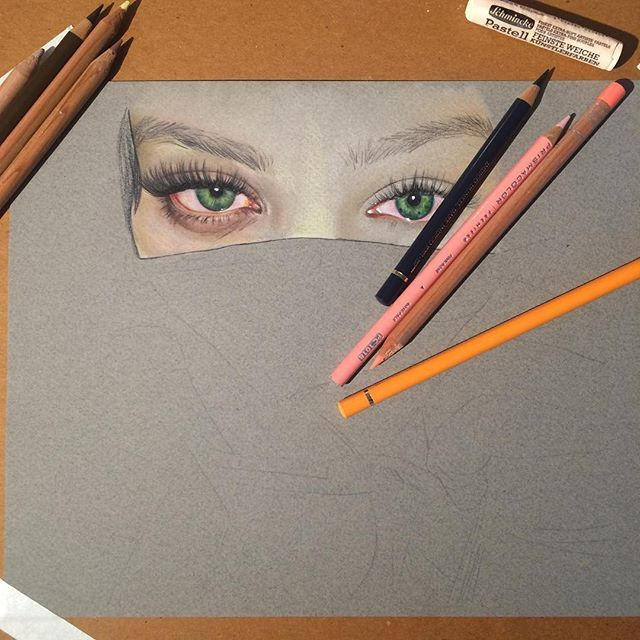 Time to quit while im ahead 😴 loving this paper and having fun with this drawing of ❤ canson pastel paper