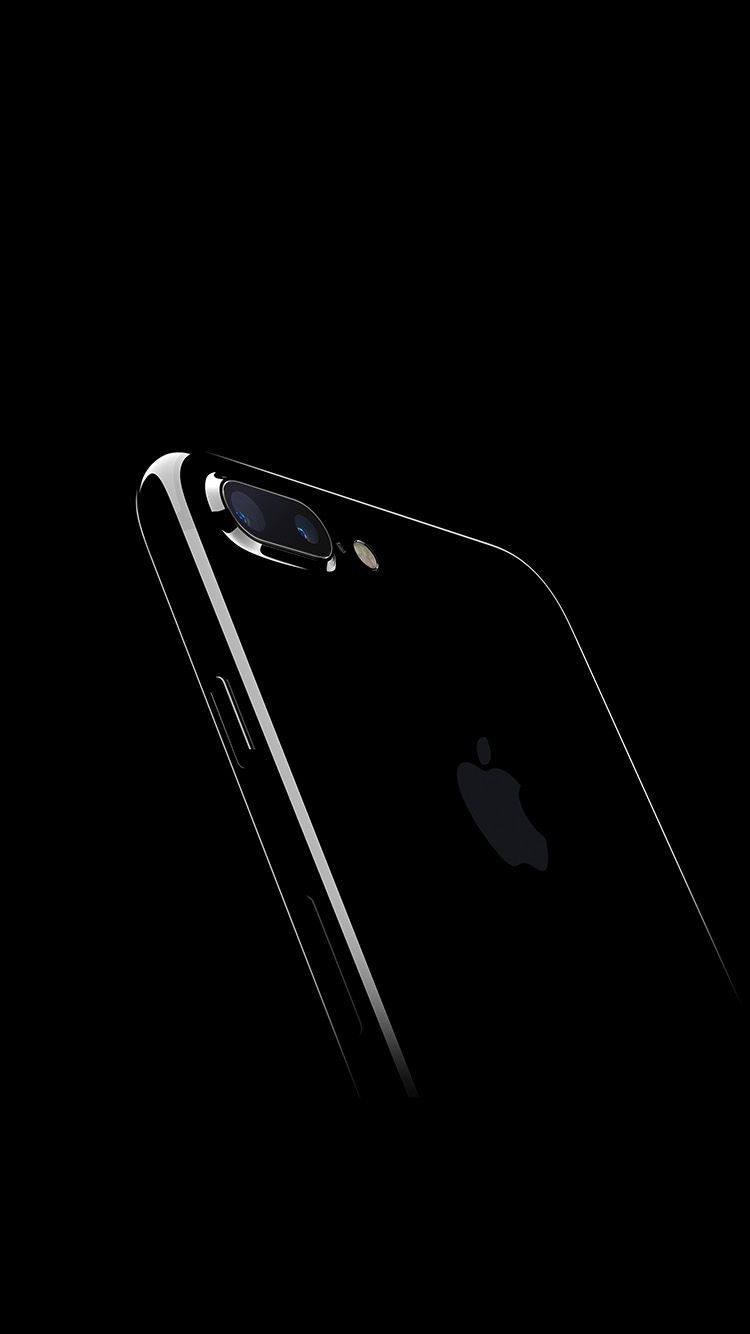 Iphone7 Jetblack Dark Apple Ios10 Art Illustration Wallpaper Hd Iphone Iphone 7 Apple Design Iphone