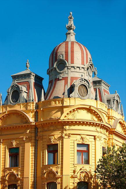 Baroque Building On Ludevita Gaja Zagreb Croatia Zagreb Croatia Zagreb Croatia