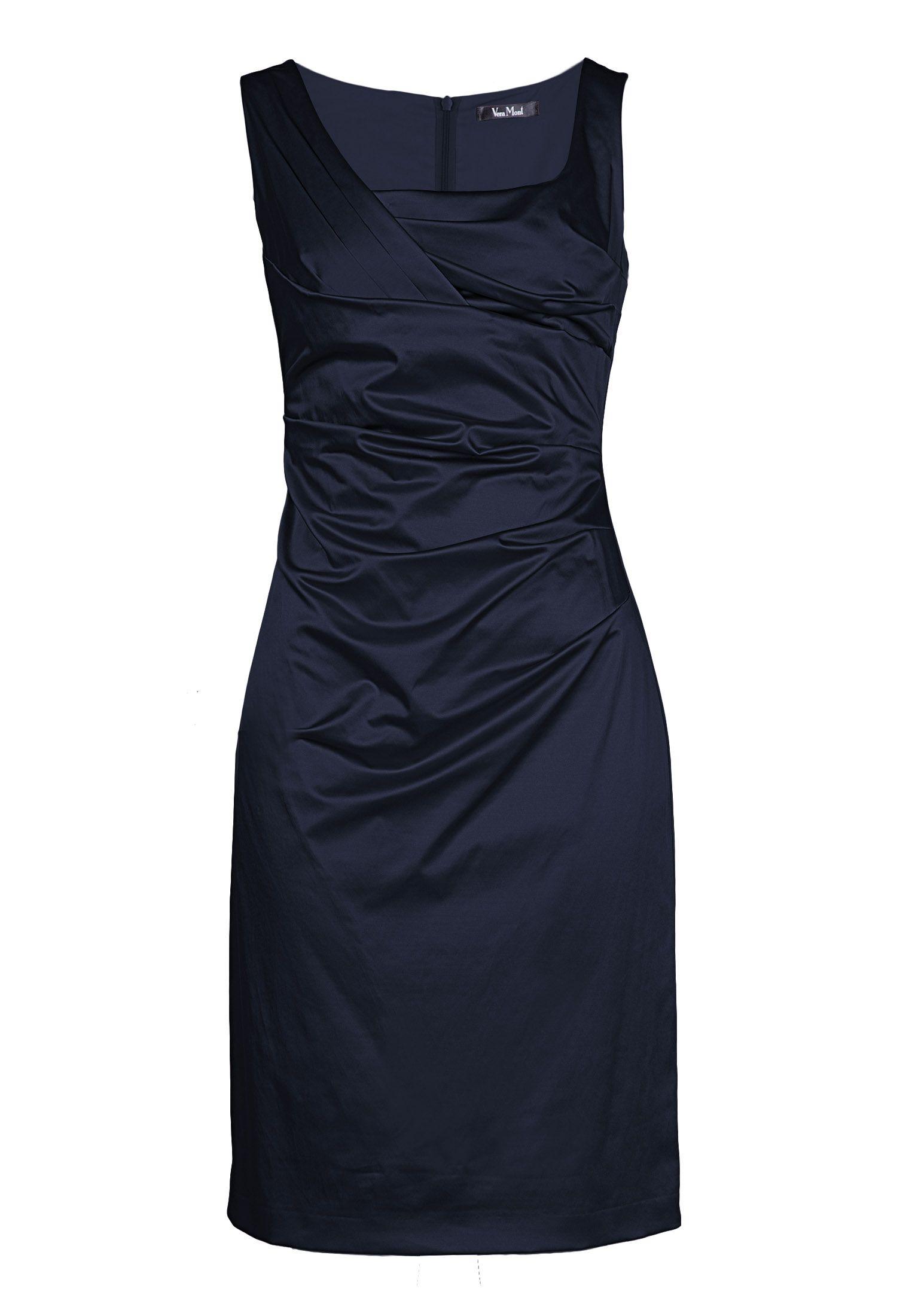 Elegantes Cocktailkleid von Vera Mont in dunkelblau ...