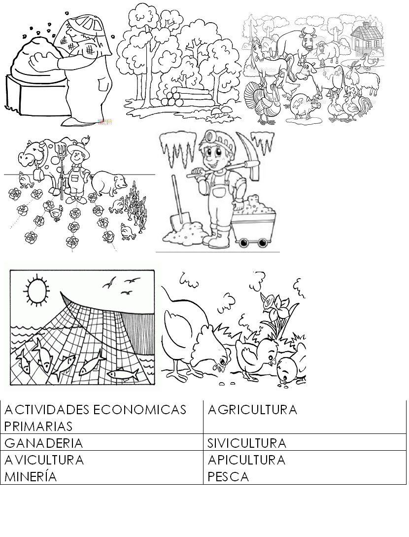 Actividades Economicas Para Colorear Agricultura Buscar Con Google Actividades Economicas Situaciones Didacticas Para Preescolar Actividades