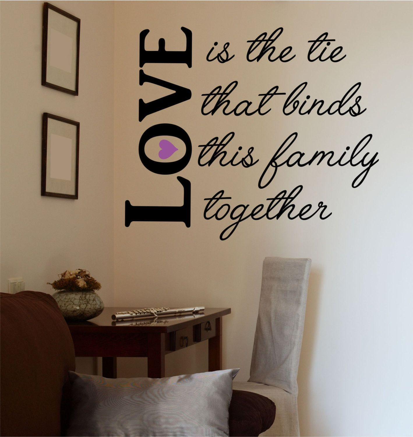 Love Is The Tie That Binds Vinyl Wall Decal Sticker