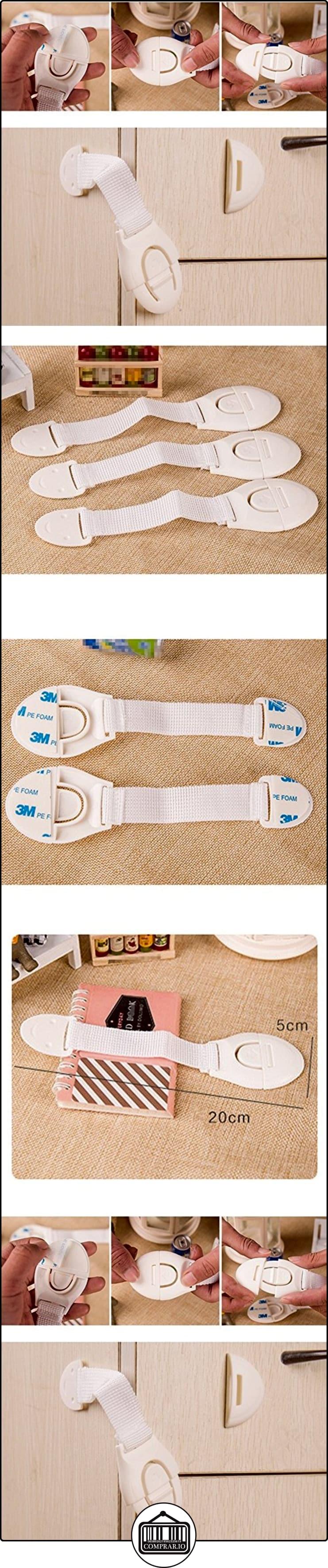 Distinct® 3pcs adhesivo del gabinete de seguridad del bebé cajón de la puerta del armario del refrigerador de bloqueo  ✿ Seguridad para tu bebé - (Protege a tus hijos) ✿ ▬► Ver oferta: http://comprar.io/goto/B01LXX4MYO