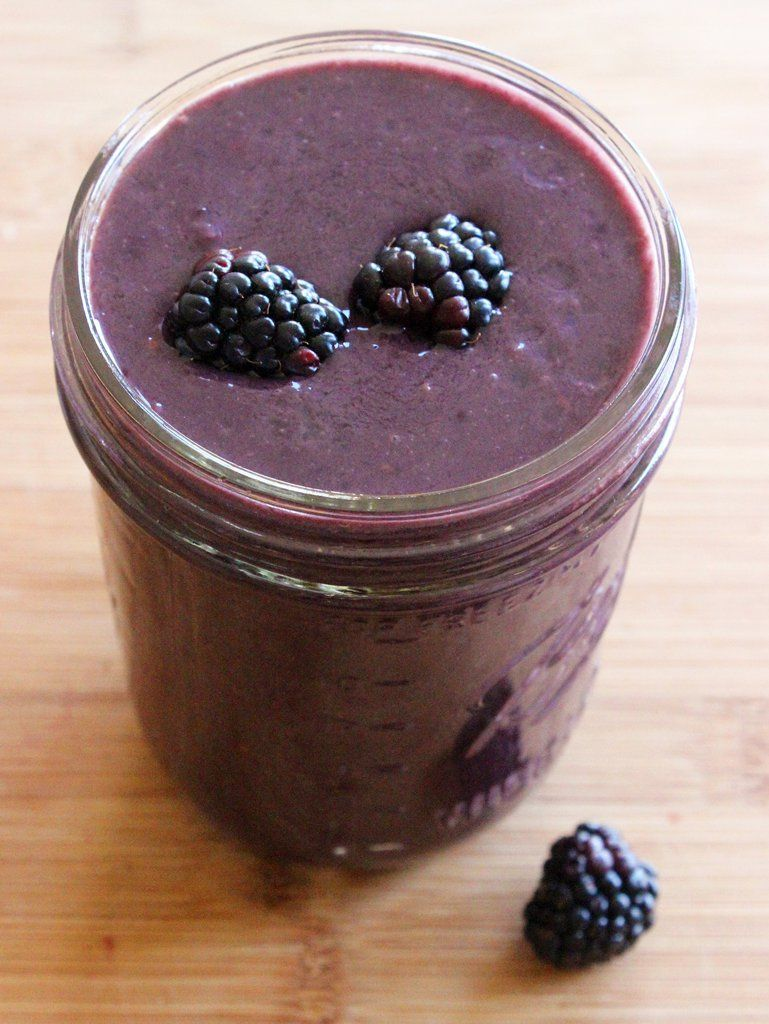 This simple blackberry banana smoothie is low in calories but high in fiber and protein to keep you satisfi...