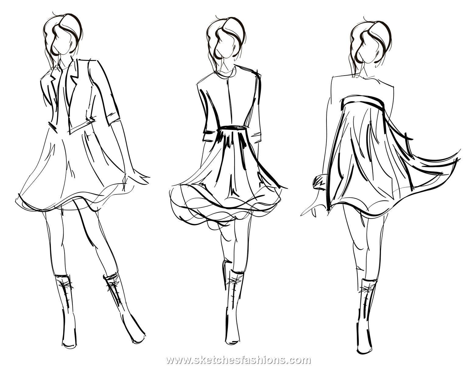 Fashion Design Sketches ^_^1 - Drawing Girls Fashion Sketches ...