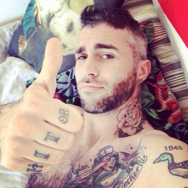 Cute handsome tattoo hottie