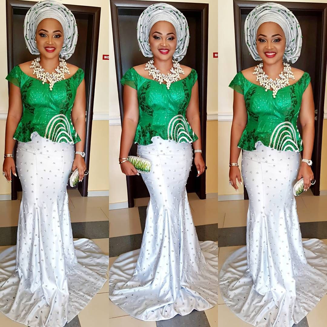 Mercy Aigbe-Gentry Keeps it Hot and Classy in Gorgeous Aso-Ebi Style ...