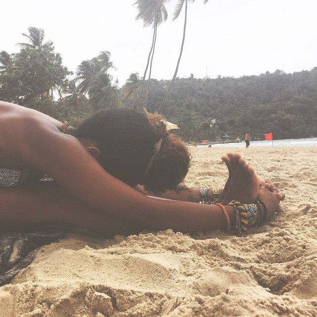 #paschimottanasana at the beach on a cloudy day. ☁️⛅️☁️ #yoga