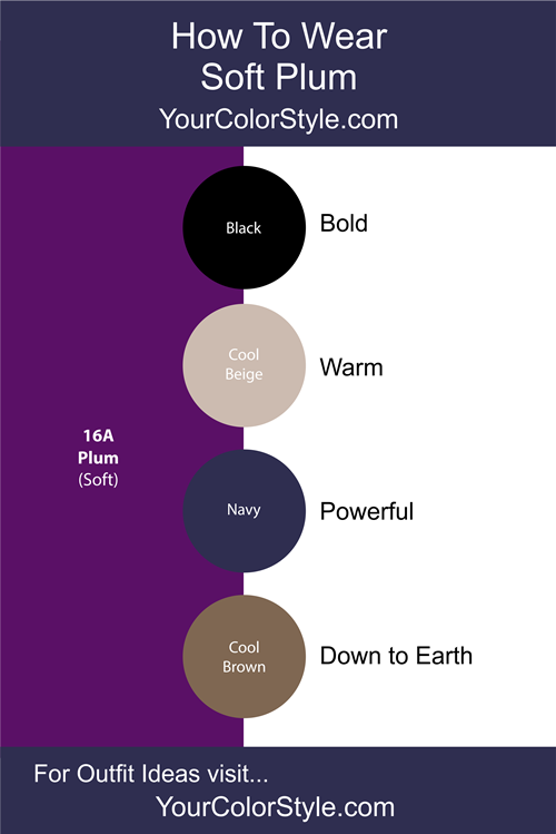 How To Wear Soft Plum With Neutrals Your Color Style Colour Combinations Fashion Color Combinations For Clothes Color Combos Outfit,Ikea Hack Learning Tower Dimensions