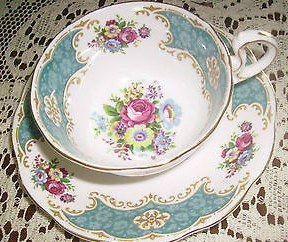 Vintage Royal Standard Floral Bone China Tea Cup and Saucer