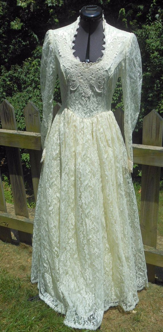 7e7fdc7a668 Gunne Sax Jessica McClintock Dress Romantic Bridal Renaissance ...