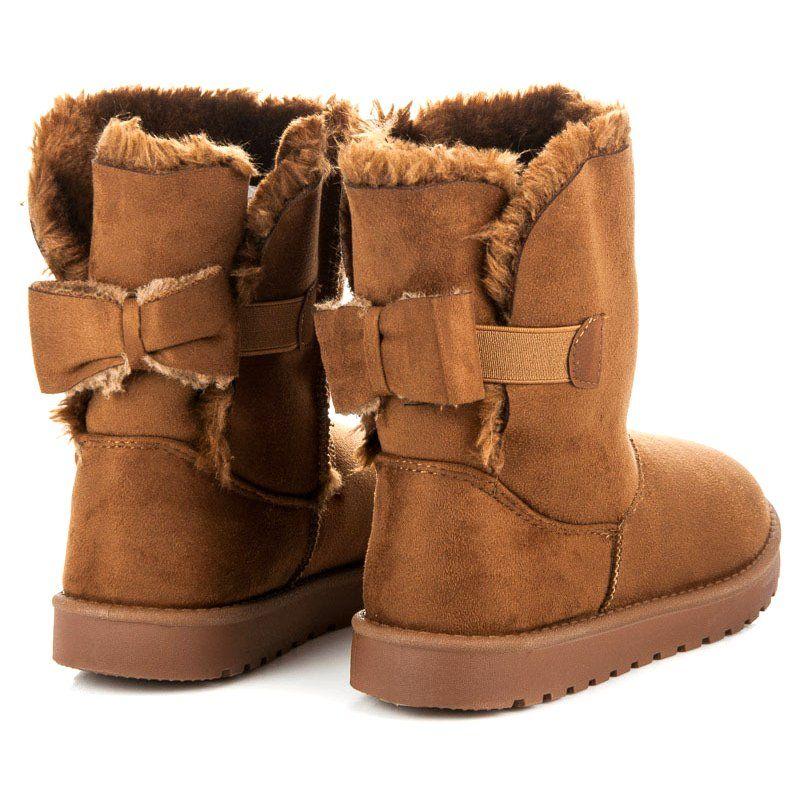 Zamszowe Mukluki Z Kokarda Brazowe Ugg Boots Boots Uggs