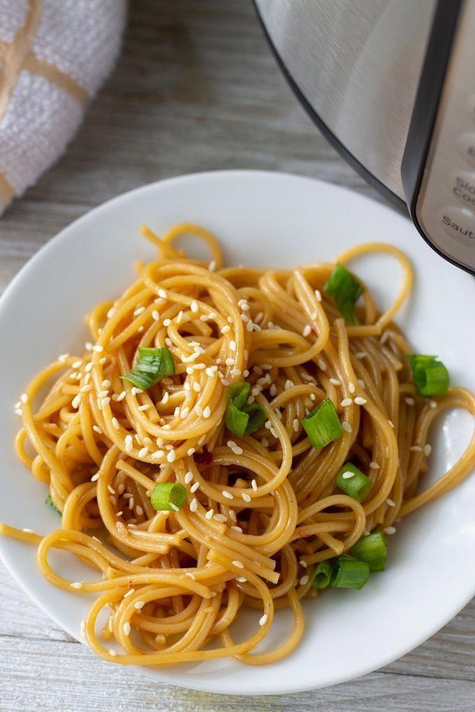 Garlic Instant Pot Noodles -  Easy and delicious one pot Garlic noodles made in the Instant Pot. No