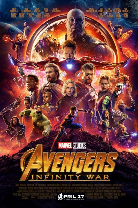 Captain America Avengers: Infinity War new official original poster Marvel comic movie quality print