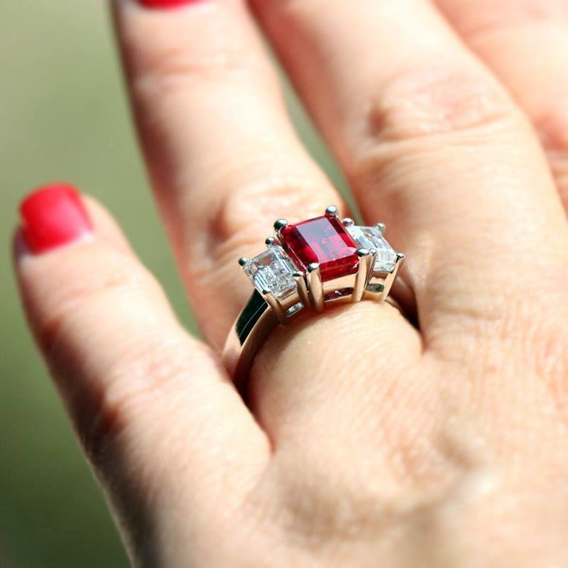 Modern Anniversary Gifts Lab Created Diamond And