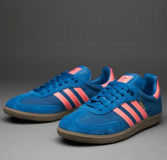 34bcc52c1af4 adidas Originals Samba  Blue Pink