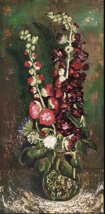 Van Gogh Vase Flowers By Karin Hesketh Inspired By A Tutorial At Www