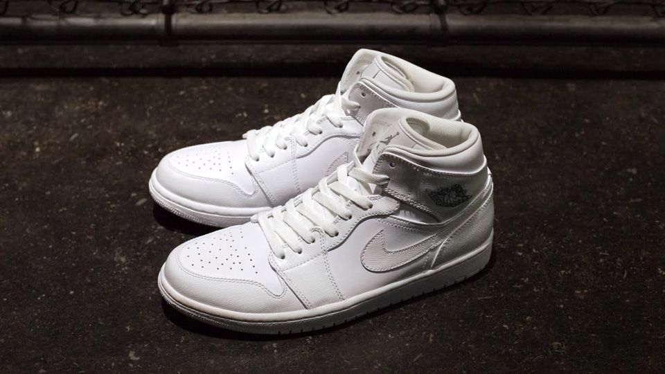 best authentic aa36b a6f12  AirJordan 1 Retro Mid - White   White   Grey  burnwilliams  solecollector