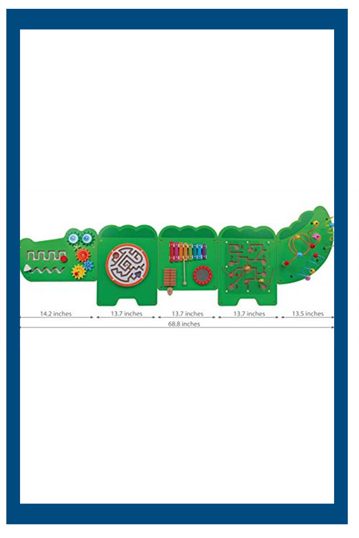 Learning Advantage Crocodile Activity Wall Panels Toddler Activity Center Wall Mounted Toy For Kids Aged 18m Kids Decor For P In 2020 Toddler Activities