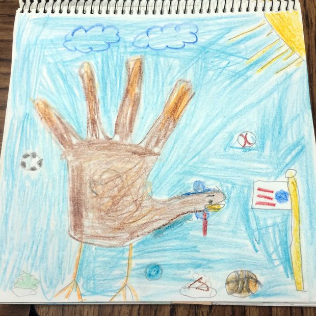 "This ""sporty turkey"" page was created by one of my Santa Ana students.  :]"