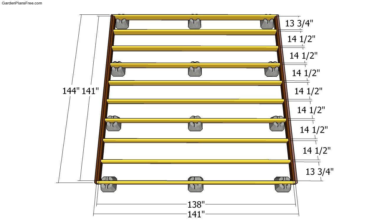 Building The Deck Frame Deckframing Building A Floating Deck Diy Deck Floating Deck Plans