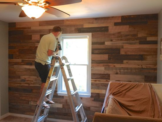 Man Cave Walls : Pallet wall for boy s nursery little man cave