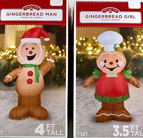 Image result for how to decorate a gingerbread man as a girl - inflatable christmas yard decorations