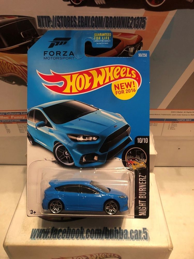 2016 Hot Wheels Forza Motorsport 16 Ford Focus Rs 90 250 Blue Night Burnerz Hot Wheels Ford Focus Hot Wheels Cars