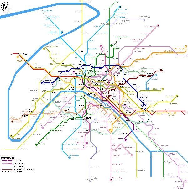 Plan Du Metro Paris Map Metro Map Map