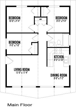 Not Crazy About The Exterior But I Like The Layout Inside Log Home Floor Plans Cottage Floor Plans Cabin Plans
