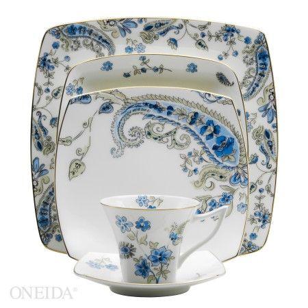 Auratic Paisley Garden by Oneida. Stoneware DinnerwareDinnerware ...  sc 1 st  Pinterest & Auratic Paisley Garden by Oneida   vajillas   Pinterest   Gardens ...