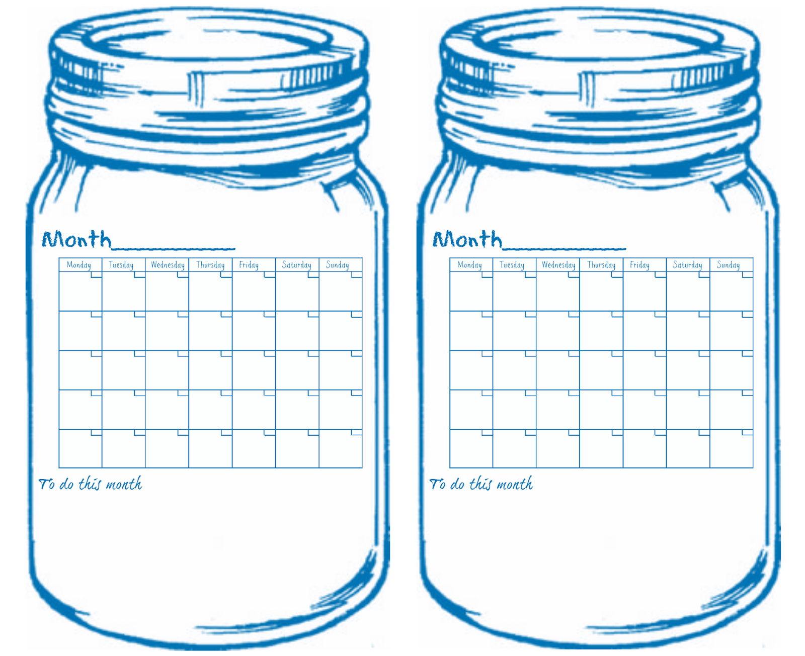 Free printable universal jar calendars 5 colors on the blog do it free printable universal jar calendars 5 colors on the blog solutioingenieria Image collections