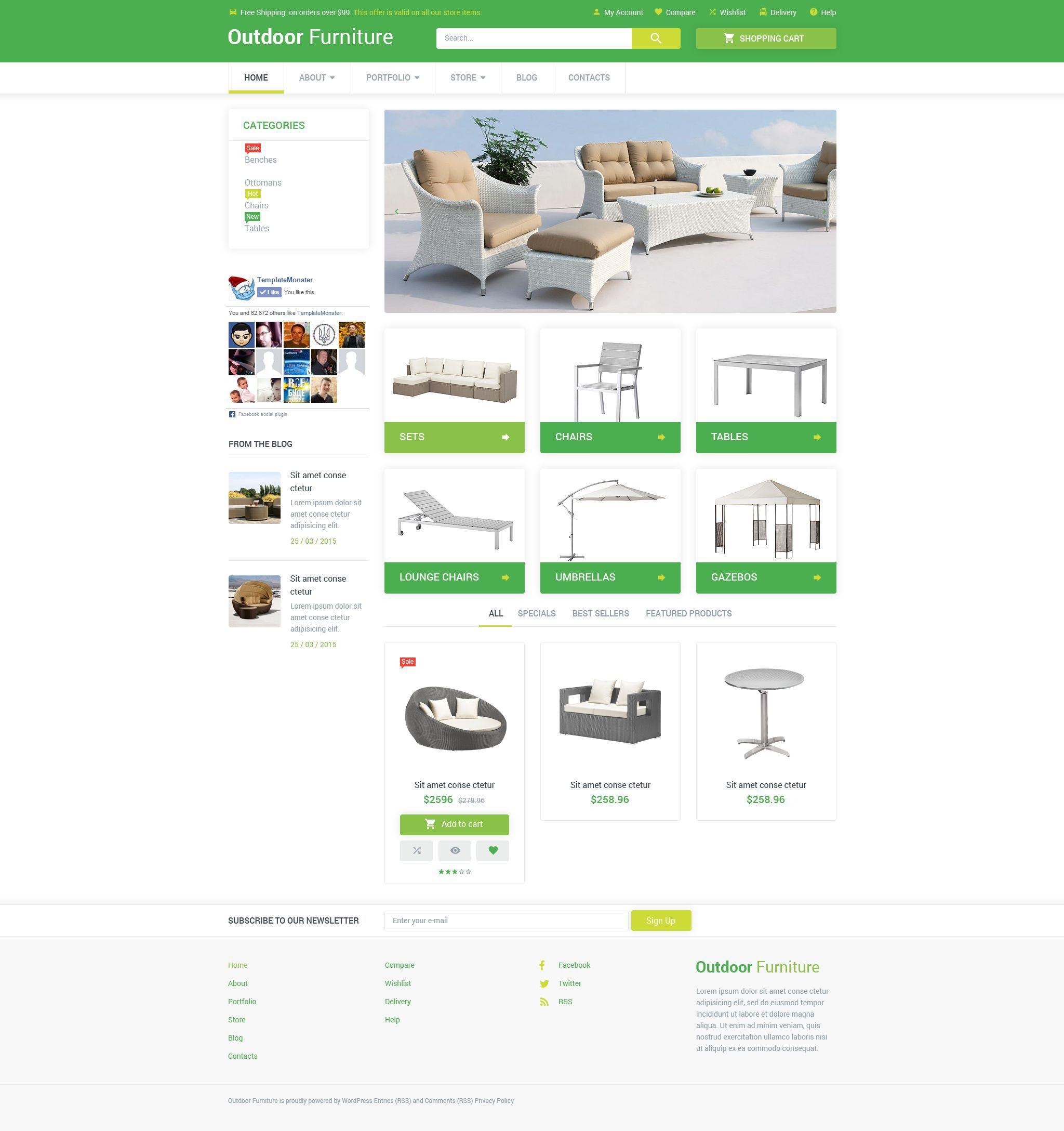 outdoor comfort woocommerce theme web design studio