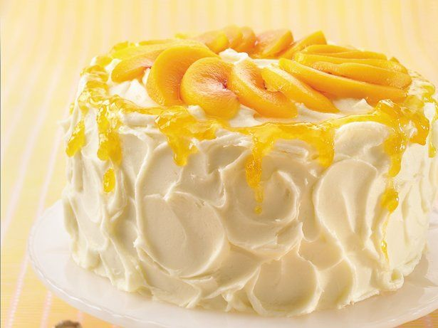 How to make a peach cake filling